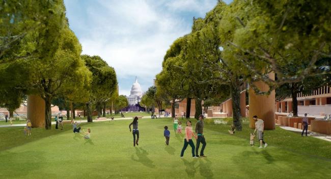 Мемориал Дуайта Д. Эйзенхауэра. Проект 2013 г. © Gehry Partners