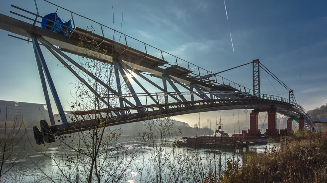 Пешеходный мост де ла Пэ © Michael Zimmermann