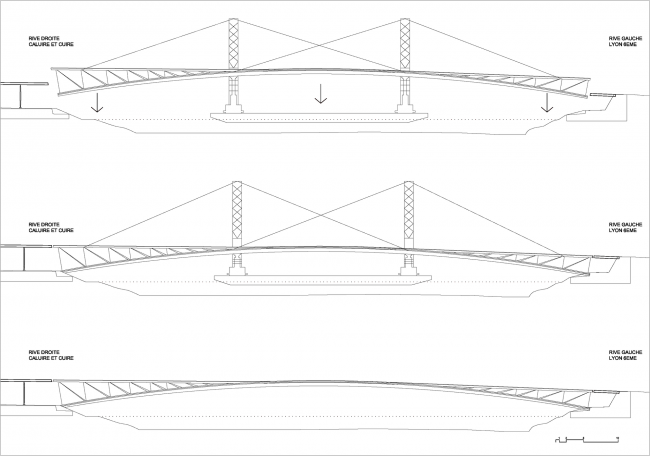 Пешеходный мост де ла Пэ © Дитмар Файхтингер