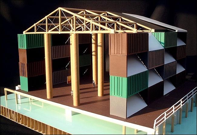 «Кочевой музей». Проект. Изображение с сайта nyc-architecture.com