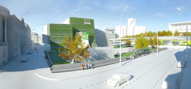 Новая площадь и решение фасада театра. АБ «Четвертое измерение»
