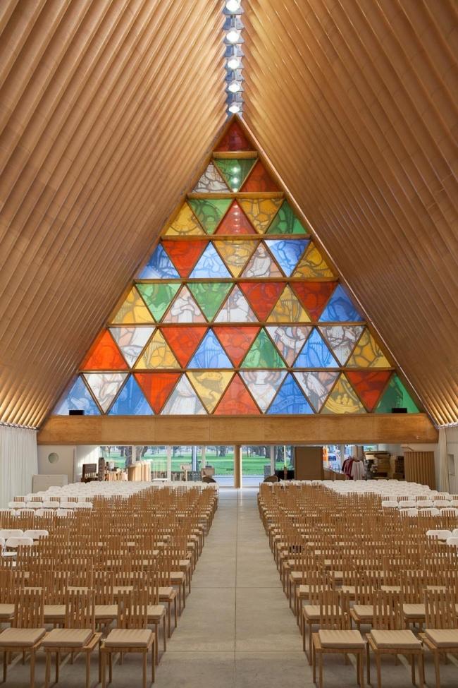 Картонный собор в Крайстчерче © Bridgit Anderson