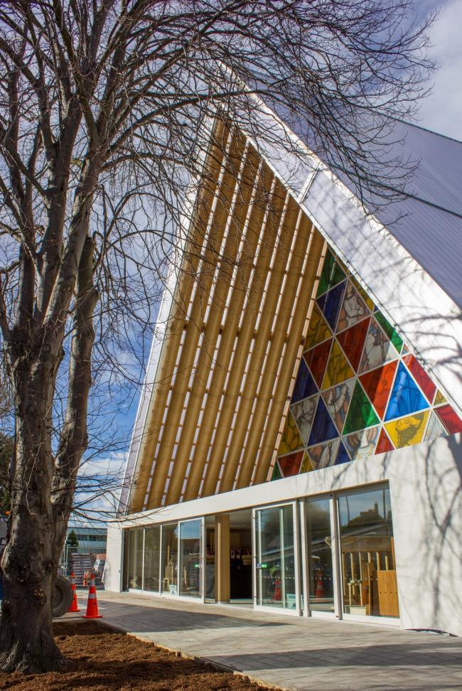 Картонный собор в Крайстчерче. Предоставлено Christchurch & Canterbury Tourism