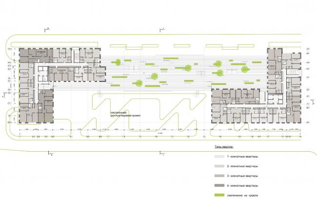 Многофункциональный жилой комплекс на улице Вавилова.  Проект, 2013 © Архитектурная мастерская «Группа АБВ»