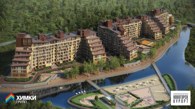 Жилой комплекс «Олимпийская деревня Новогорск. Курорт». Проект, 2013 © Архитектуриум, Химки Групп