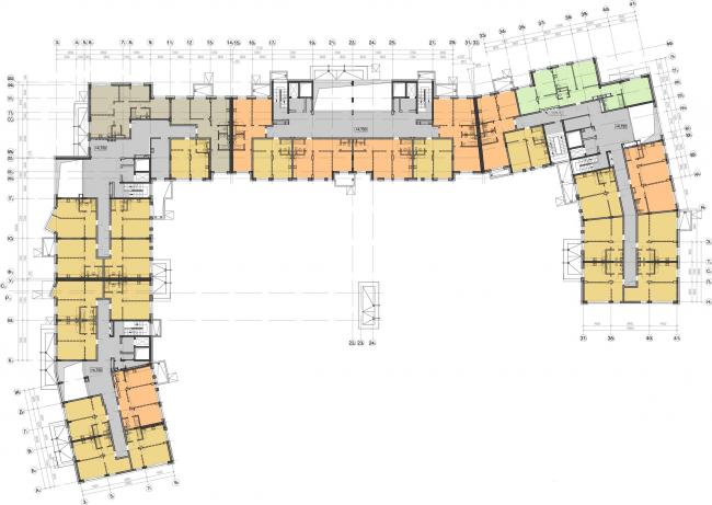 Жилой комплекс «Олимпийская деревня Новогорск. Курорт». План 3 этажа © Архитектуриум