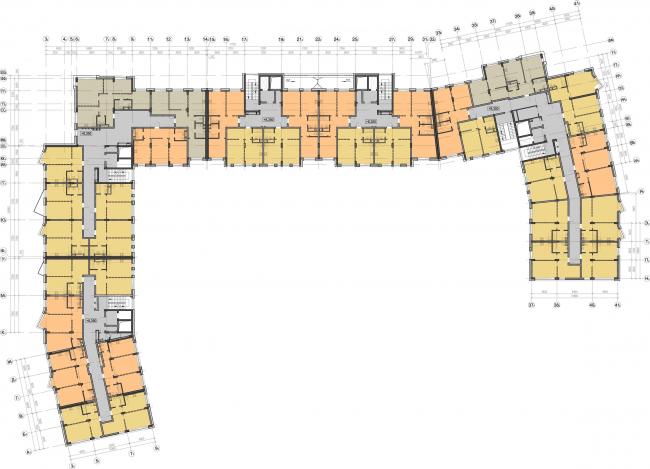 Жилой комплекс «Олимпийская деревня Новогорск. Курорт». План 2 этажа © Архитектуриум