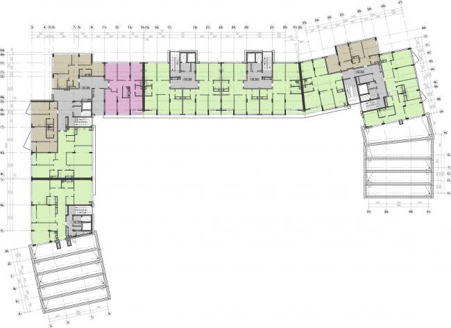 Жилой комплекс «Олимпийская деревня Новогорск. Курорт». План 1 этажа © Архитектуриум
