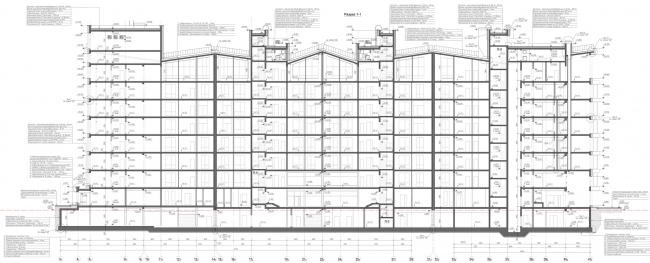 Жилой комплекс «Олимпийская деревня Новогорск. Курорт». Разрез © Архитектуриум
