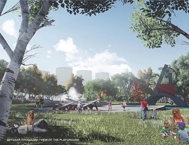 Концепция парка «Ходынское поле» © Perkins Eastman