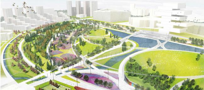 Концепция парка «Ходынское поле» © Okra Landscape Architects