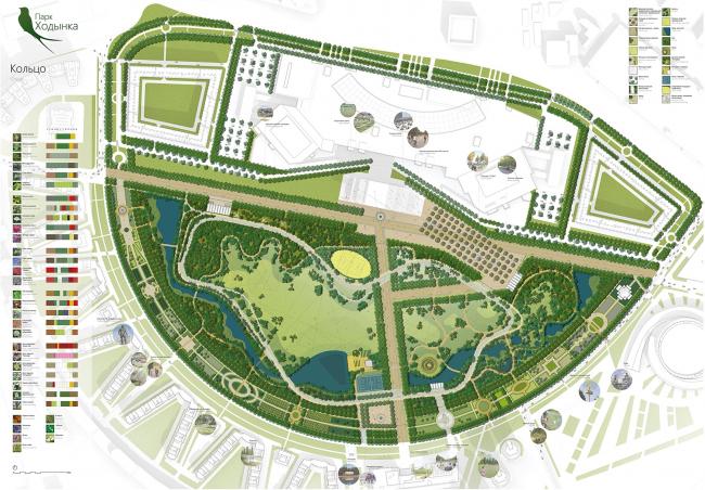 Концепция парка «Ходынское поле» © Lap Landscape & Urban Design