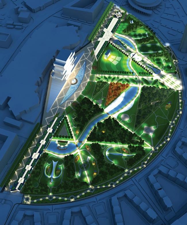 Концепция парка «Ходынское поле» © Козлов Анатолий, Барсуков Денис