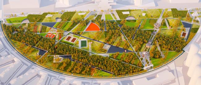 Концепция парка «Ходынское поле» © Творческая мастерская Т.М.
