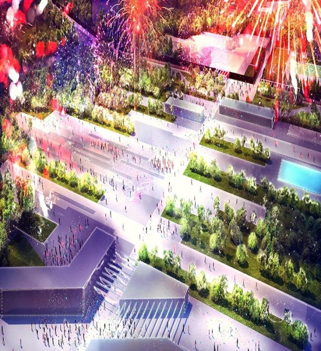 Концепция парка «Ходынское поле» © Хоумленд Архитектура