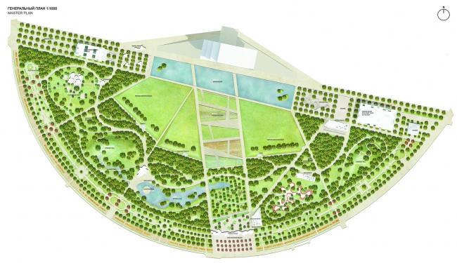 Концепция парка «Ходынское поле» © Arge M2M8 / Glasser&Dagenbach