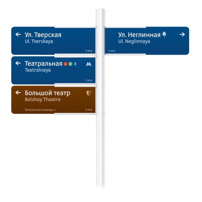 Городской указатель. Фото: artlebedev.ru
