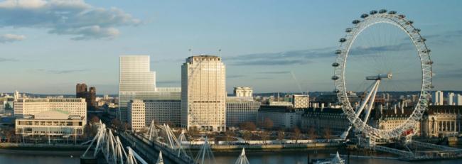 Дэвид Чипперфильд. Комплекс «Элизабет-хаус» в панораме Лондона © Elizabeth House / David Chipperfield Architects