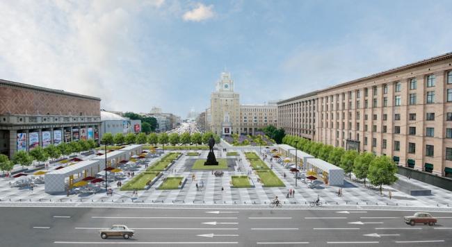 Триумфальная площадь. Buromoscow совместно с Мастерской ландшафтного дизайна Arteza