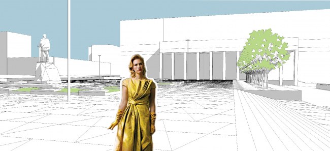 Концепция благоустройства Триумфальной площади. Buromoscow совместно с Мастерской ландшафтного дизайна Arteza