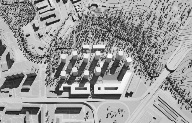 Комплексная многофункциональная застройка на месте ОАО «Завод ИСКОЖ» в Москве © «Сергей Скуратов Architects»