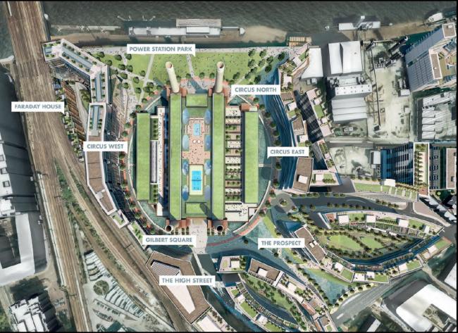 Электростанция Баттерси – реконструкция © Battersea Project Land Company Limited