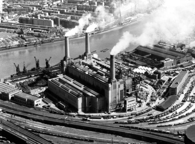 Электростанция Баттерси в 1953 © Battersea Project Land Company Limited