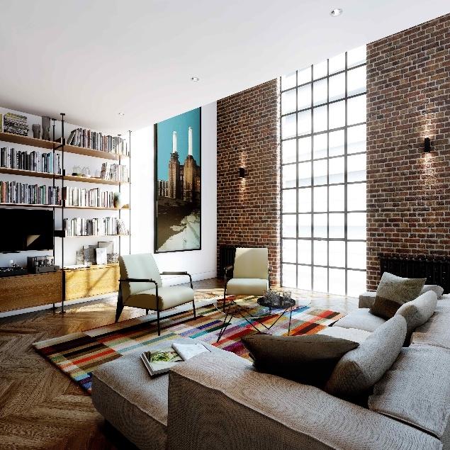 Квартира внутри электростанции Баттерси © Battersea Project Land Company Limited