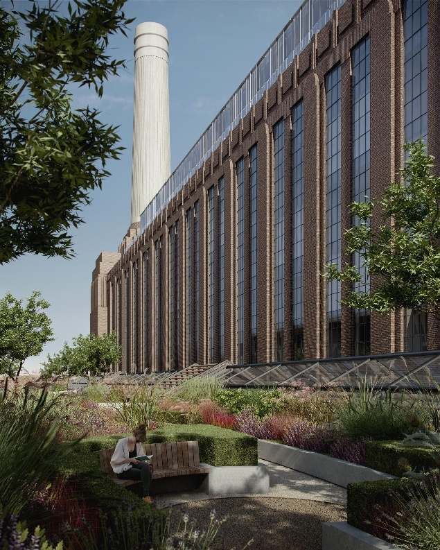 Электростанция Баттерси, переделанная в жилой комплекс © Battersea Project Land Company Limited