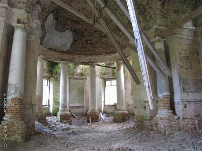 Интерьер храма в Мольгино. Фотография: С.П. Носиков, 2009, temples.ru
