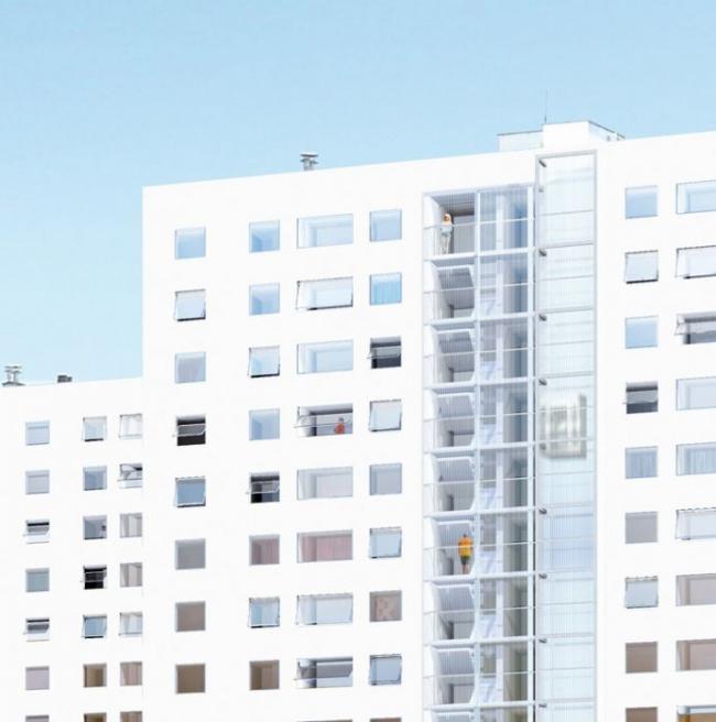 Реконструкция корпусов G, H, I комплекса Cité du Grand Parc © Lacaton & Vassal