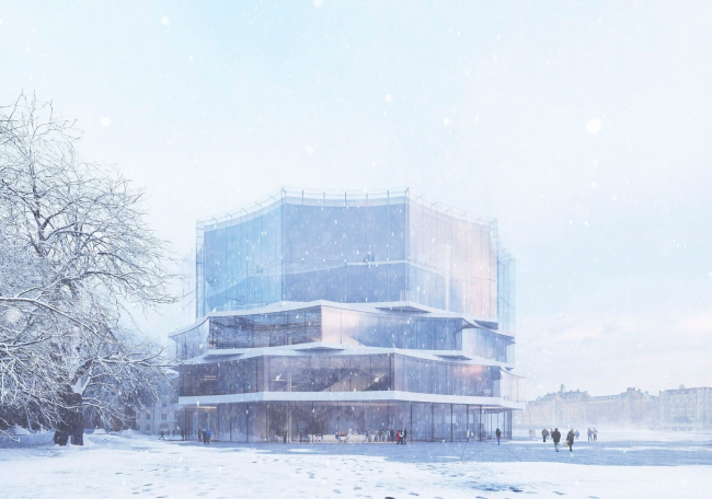 Nobel Snowflake. Проект Герта Вингорда.Третье место © Wingårdh Arkitektkontor