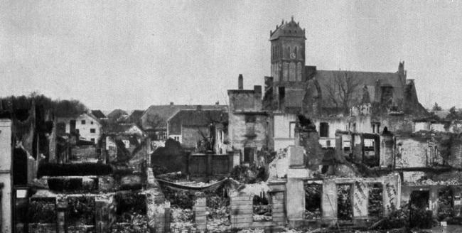 Разрушенный город Гердауэн. Изображение предоставлено Дмитрием Сухиным