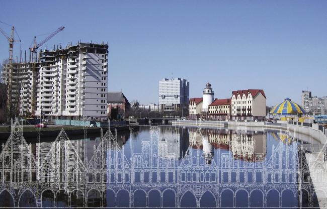 «Рыбная деревня» и проект Эрхарда. Изображение предоставлено Дмитрием Сухиным