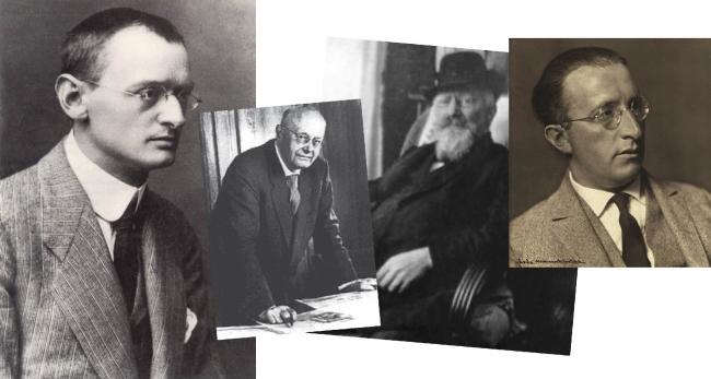 Бруно Таут, Макс Таут, Бруно Мёринг, Эрих Мендельсон. Изображение предоставлено Дмитрием Сухиным