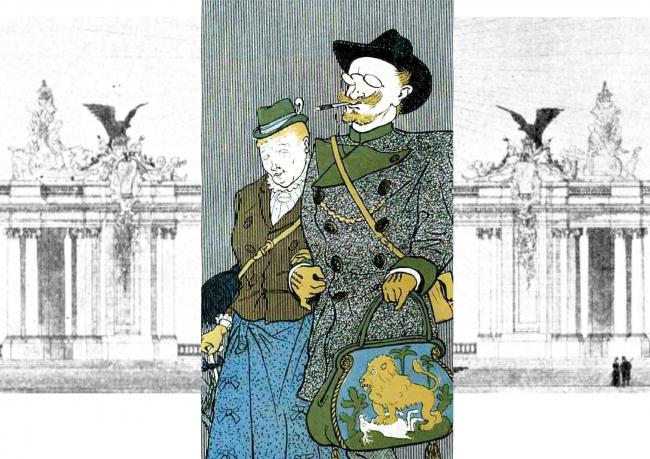 Карикатура, 1902 год. Изображение предоставлено Дмитрием Сухиным