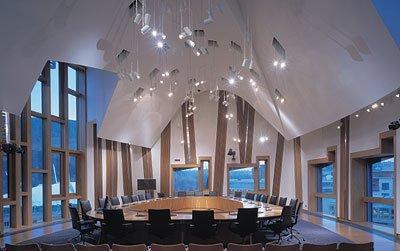 Шотландский парламент. Зал для заседания комитетов