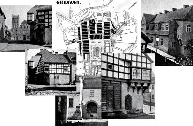 Восстановленный город Гердауэн, детали. Изображение предоставлено Дмитрием Сухиным