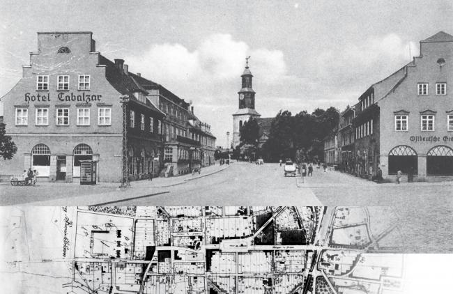 Восстановленный город Шталлупёнен, карта площадей. Изображение предоставлено Дмитрием Сухиным