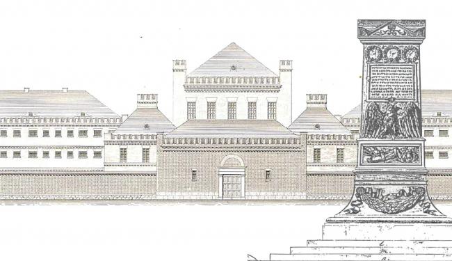 Инстербургская тюрьма и памятник на месте смерти Барклая-де-Толли, проекты Карла Фридриха Шинкеля. Изображение предоставлено Дмитрием Сухиным