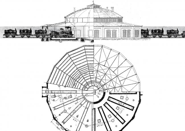 Циркульное депо с куполом Шведлера. Изображение предоставлено Дмитрием Сухиным