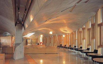 Шотландский парламент. Общий вестибюль