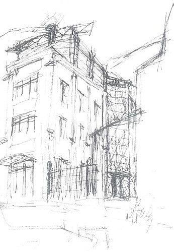 Проект здания «Диалог Банка» в Старопанском переулке © Алексей Бавыкин и партнёры