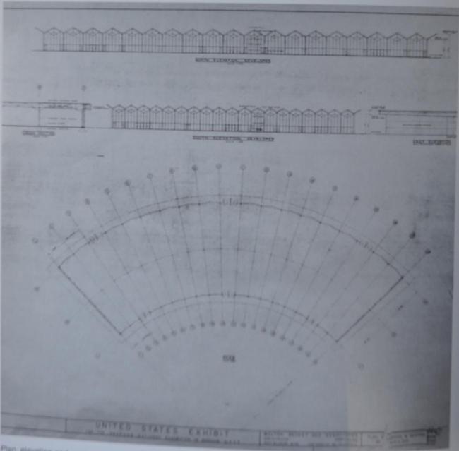 План павильона на выставке «Промышленные товары США» в Сокольниках. Изображение предоставлено Анной Броновицкой
