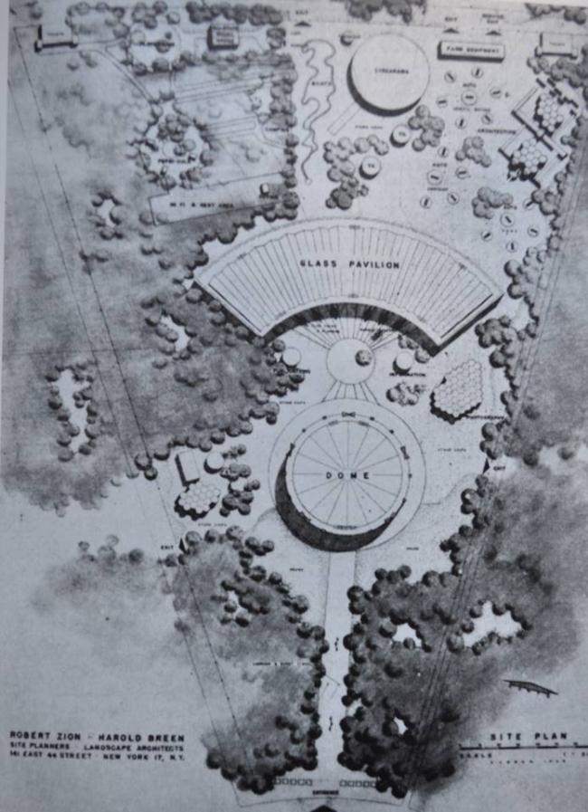 Генплан выставки «Промышленные товары США» в Сокольниках. Изображение предоставлено Анной Броновицкой