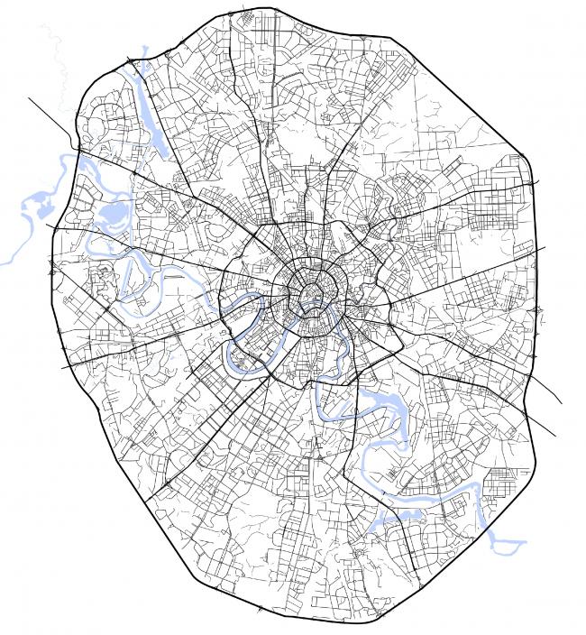1937-1962 гг. МКАД служит новой административной границей Москвы. Из презентации Олены Гранкиной. Проект «Город дорог»