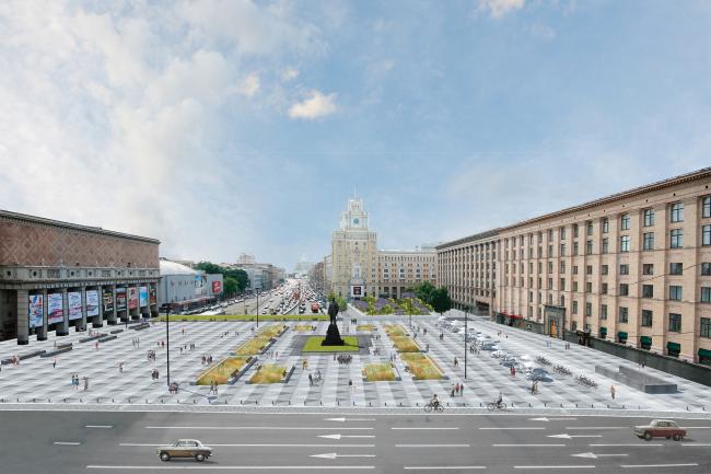 Без павильонов. Проект реконструкции Триумфальной площади Buromoscow (при участии Arteza)