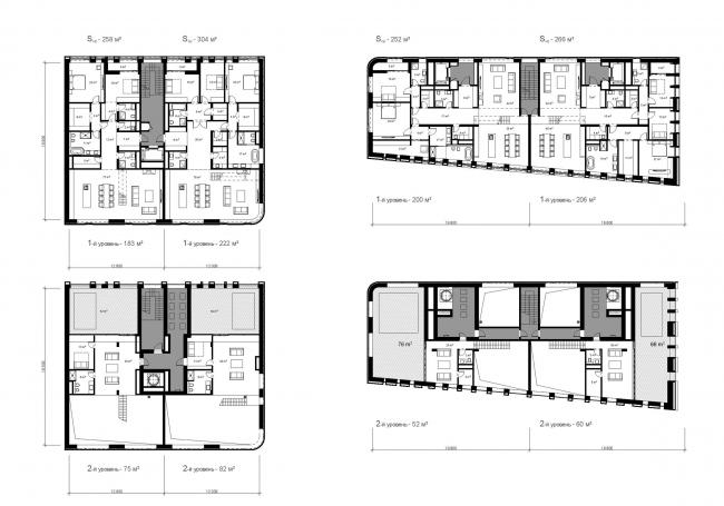 Жилой дом (апартаменты) класса de luxe © Сергей Скуратов ARCHITECTS63