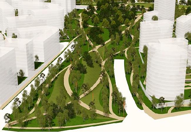 Архитектурно-градостроительная концепция территории завода «Серп и молот». © LDA Design