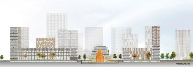 Архитектурно-градостроительная концепция территории завода «Серп и молот». © de Architekten Cie